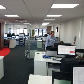Bull products new office space