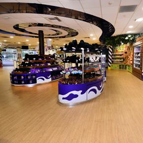 Vinyl tiles at Cadbury World