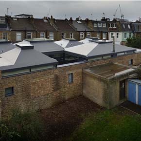 Sika Trocal's Type S waterproofing membrane showcased on the complex, pyramid-style roof design