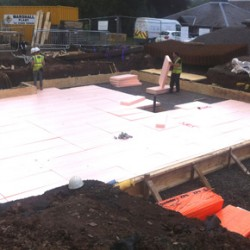 Sundolitt XPS being used for the new swimming pool at the Castlebrae Police Treatment Centre