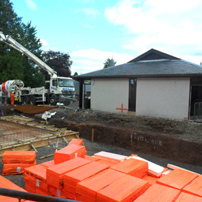Sundolitt XPS being installed at the Castlebrae Police Treatment Centre