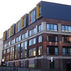 Cembonit cladding featured on The Arch student accommodation in Liverpool