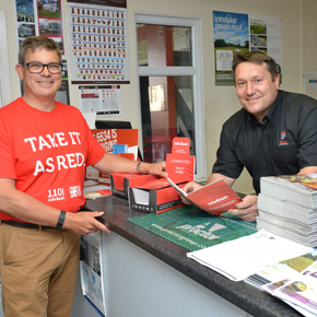 Christian Brash and Lee Simpson from Rinus Roofing