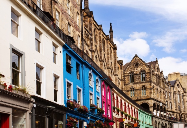 Colorful buildings in Victoria Street, Old Town