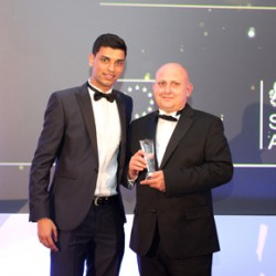 Craig Shuttleworth receiving his Pera Training award