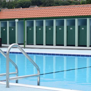 One of the pools at the National Lido of Wales