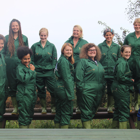 Dickies donated coveralls to the Wild Future Monkey Sanctuary