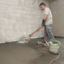 Application of SikaScreed P-24 screed system