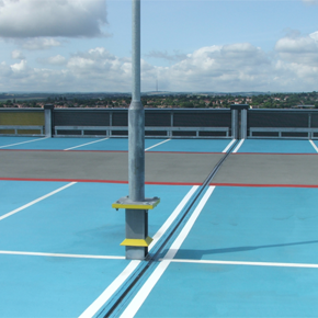 Five years on and a routine inspection has revealed that the movement joints continue to perform as intended at the 1,400-space car park