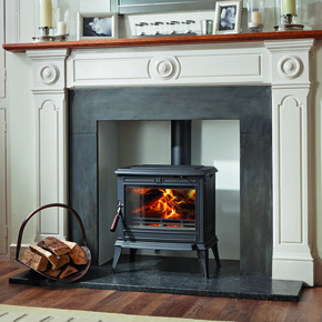 Franco Belge wood burning stove, the newest range in Euroheat's offering.