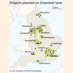 Green Belt building up 25% despite Tory promises to protect 'precious land'