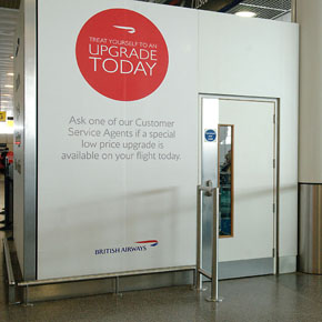 Ahmarra fire door at Gatwick Airport