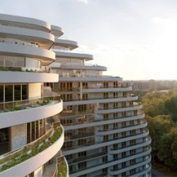 Harmer balcony outlets and Modulock channel drainage specified for luxury Chelsea Bridge Apartments