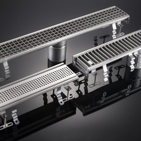 Modular 120 stainless steel channel drain