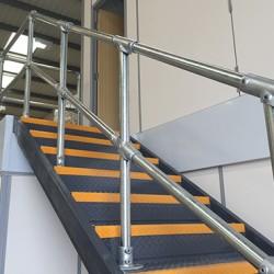 Kee Klamp slope fittings on handrails