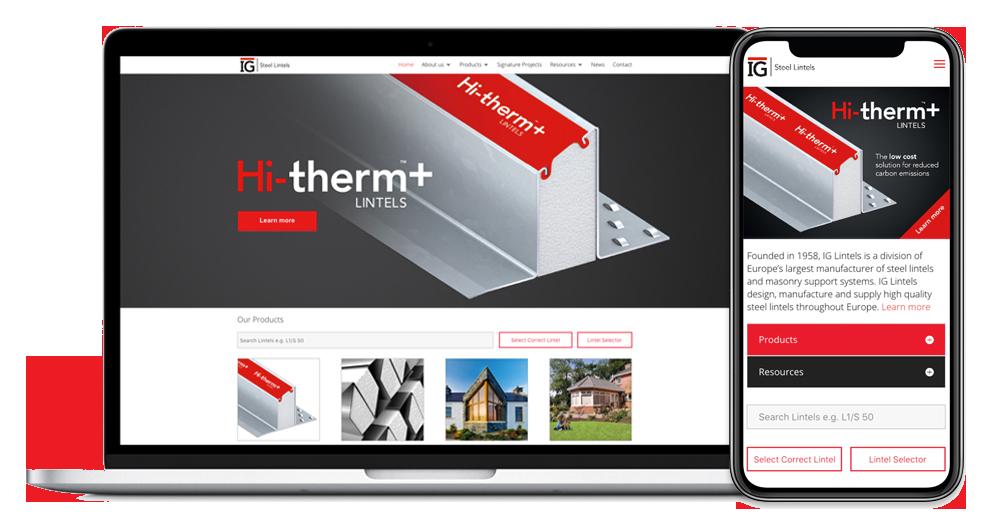 IG Lintels new website