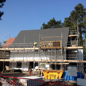 Passivhaus property being constructed