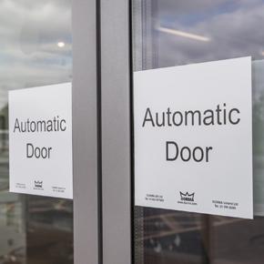 Automatic sliding doors from DORMA