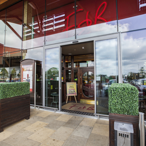 DORMA's automatic sliding doors at the Bishop Centre