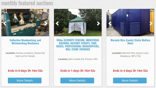 Selling heavy plant machinery at auction