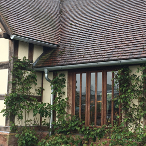 Steel guttering and downpipes from Alumasc Rainwater