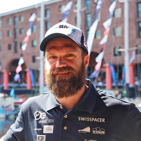 Matthias Eigenmann, sailing for the Ocean Cleanup project