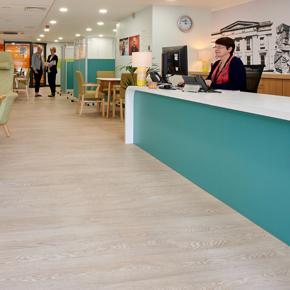 Polysafe Wood fx PUR, dementia-friendly flooring