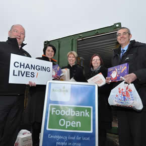 Novus Property Solutions makes a festive donation to Trussell Trust Midlothian Food Bank