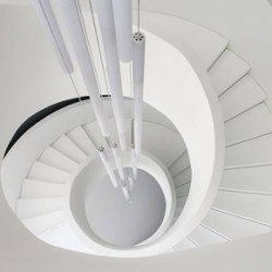 HI-MACS solid surface material staircase