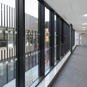 Aluminium windows for new medical centre