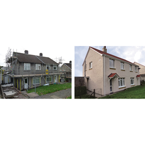 Structherm SEWI: Before and after