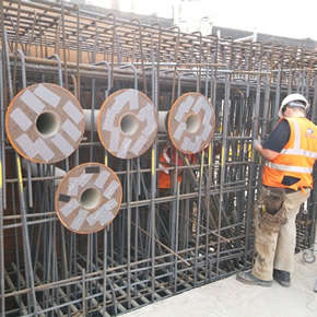 Curaflex pipe sleeves installed at R7 development