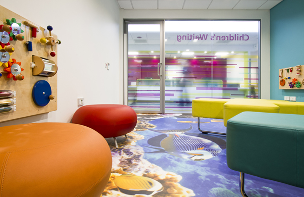 Printed vinyl flooring for Chorley Hospital's Urgent Care Centre