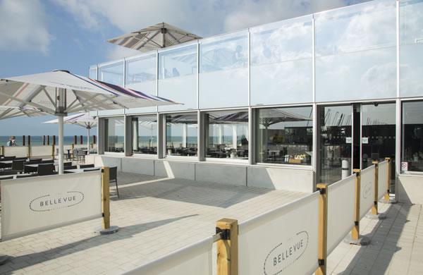 GEZE's Slimdrive SL NT single operators at British Airways i360