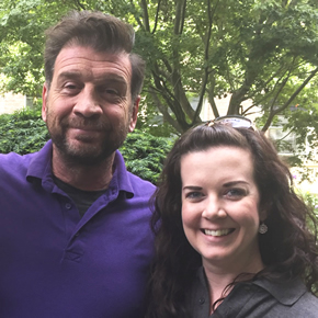 Nick Knowles from DIY SOS with Rachel Levy from Big Foot Systems