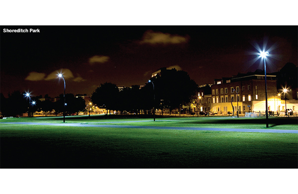 LED lighting in Shoreditch Park