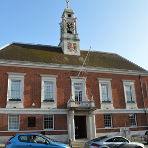 Secondary glazing at Braintree Town Hall