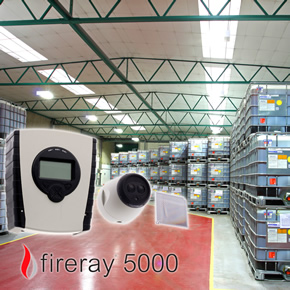 Fireray 5000 beam smoke detectors