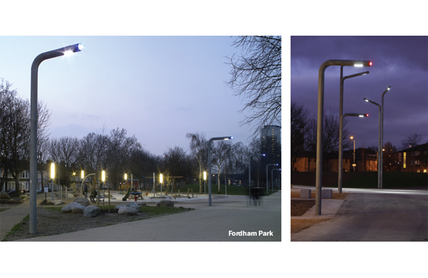LED lighting in Fordham Park