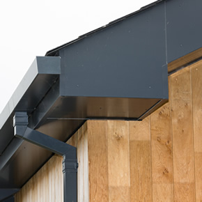 Evoke fascia and soffit and Aligator Boxer guttering