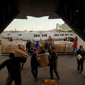 SURI emergency shelter systems being distributed