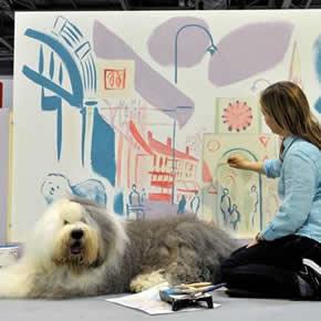 Dulux Dog at Ecobuild