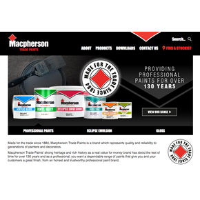 Macpherson Trade Paints' new website