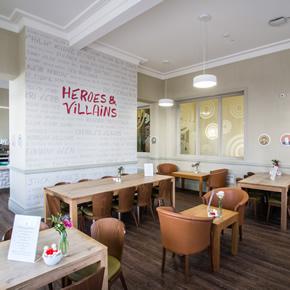 Vinyl tile flooring for JOL's Cafe