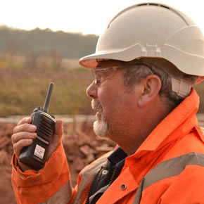 Two-way radios in construction