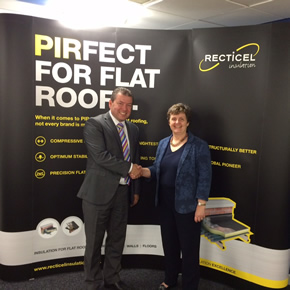 PIR insulation factory welcomes Anthea McIntyre