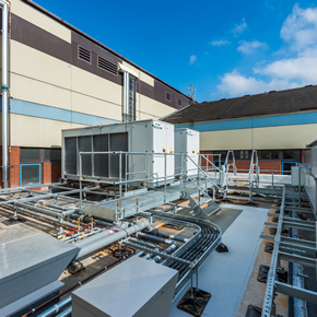Roof access systems at Royal Derby Hospital