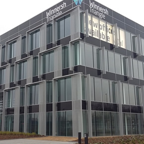 Solar control glazing at Winnersh Triangle offices
