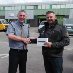 Simon Cresswell, winner of Freefoam's competition