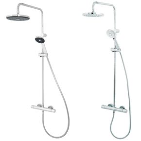 New cool-to-touch bar showers from Methven